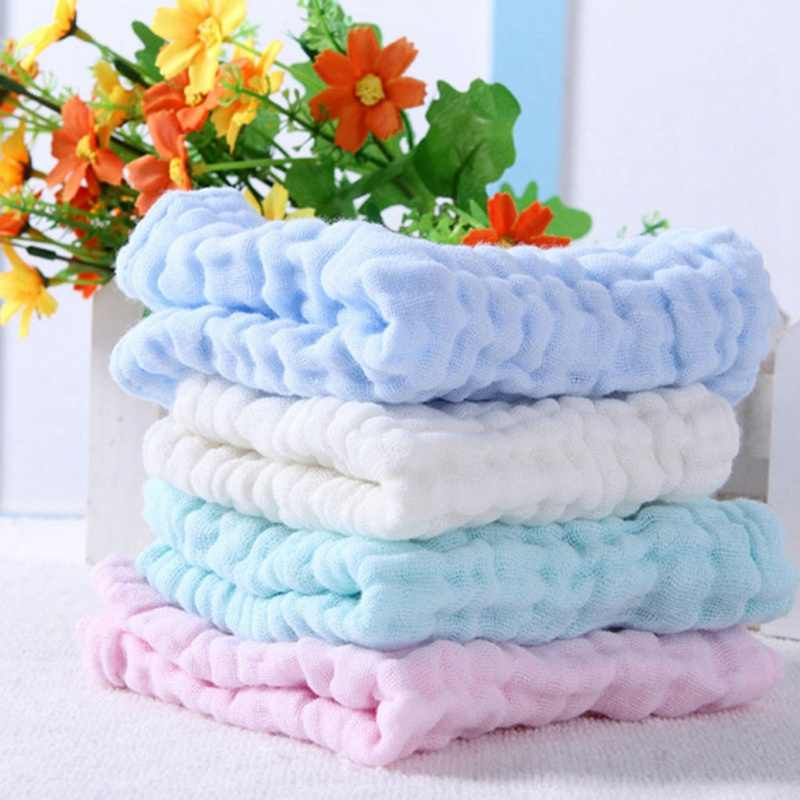 Soft Cotton Baby Handkerchief Infant Kids Towel Newborn Baby Washable Baby Child Feeding Wipe Cloth Bathing Face