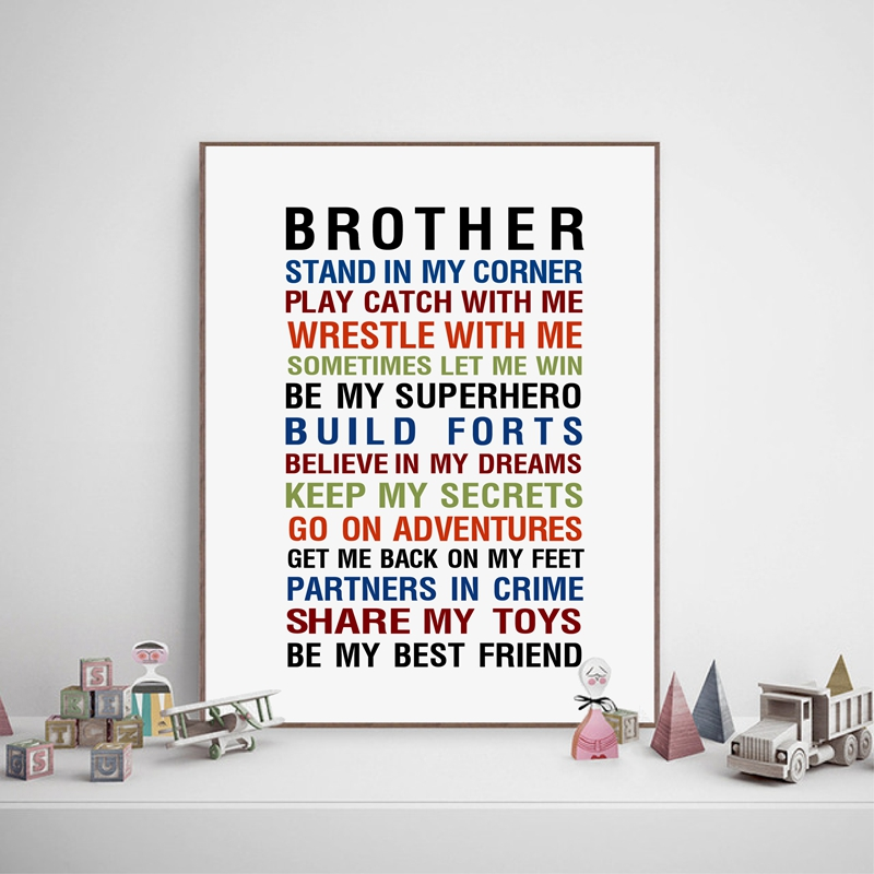 Brother Quote Prints Wall Art Canvas Poster , Big Brother Gift ...