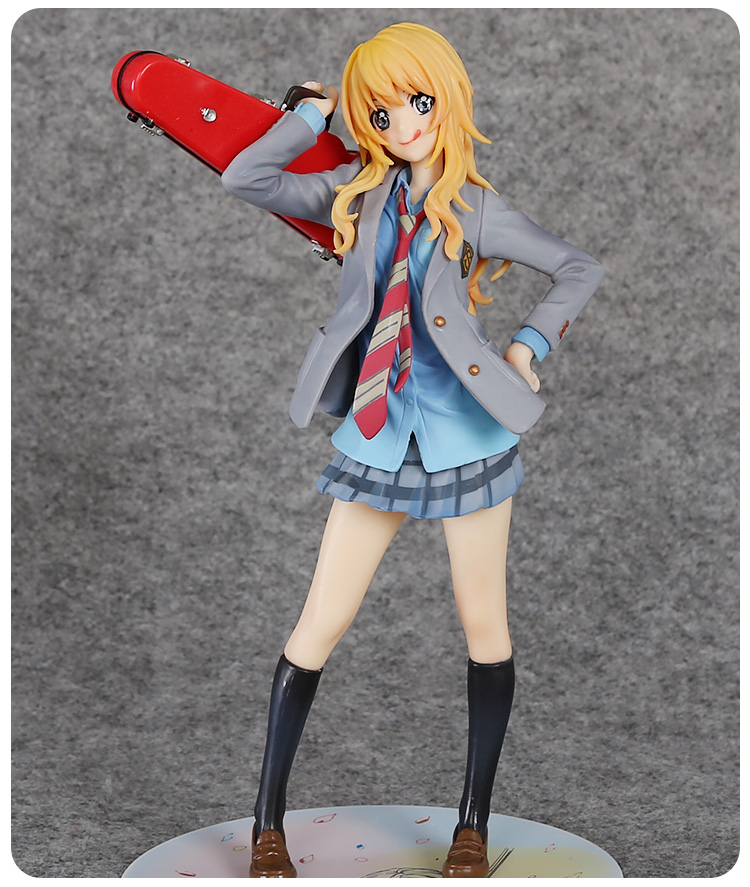 ФОТО Anime Your Lie in April Miyazono Kaori 1/8 Scale Painted Figure Collectible Model Toy 20cm