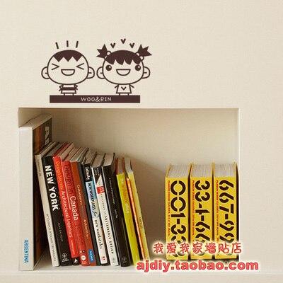 Handel hurtowy i Detaliczny Cartoon Dzieci Naklejki Ścienne Dekoracje Ścienne Oblicowywanie Ścian Wystrój Domu Darmowa Wysyłka