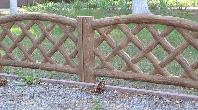 Holz Textur Zaun Zement Formenbau Für Ihren Garten Beton Hof Zaun  Dekoration Werkzeug