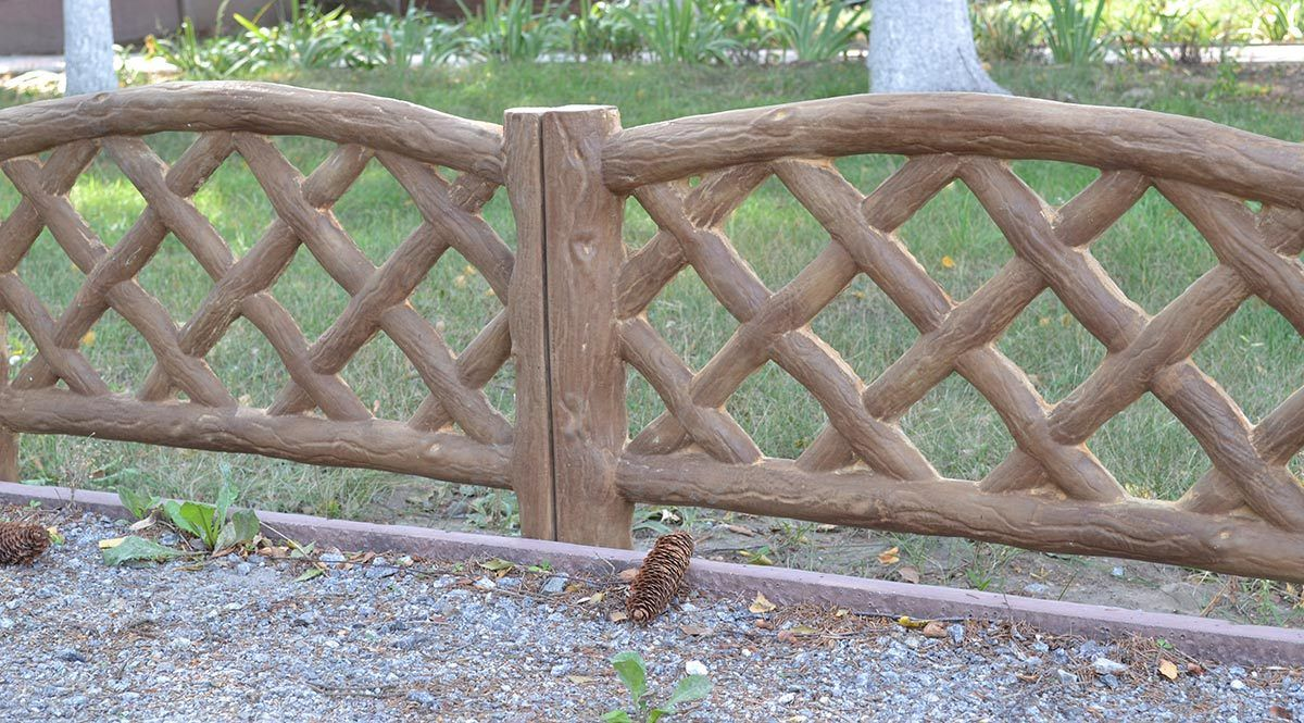 Wood Texture Fence Cement Mold Maker for Your Garden Concrete Yard ...