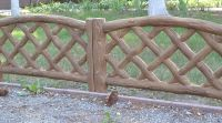 Wood Texture Fence Cement Mold Maker for  Your Garden Concrete Yard Fence Decoration Tool