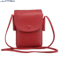 6 5inch Cell Phone Bag Genuine Leather Pouch Purse Wallet Case Mini Crossbody Bag Shoulder Strap
