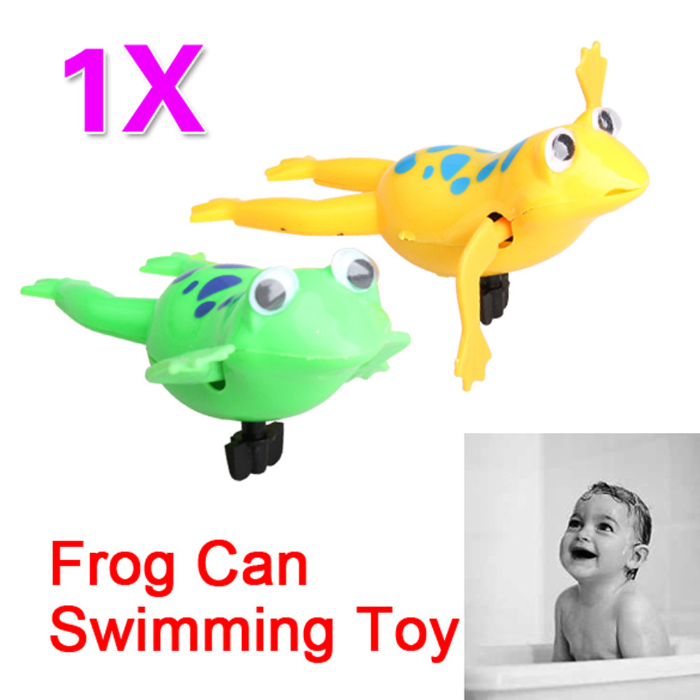 Swimming Frog font b Battery b font Operated Pool Bath Cute Toy Wind Up Swim Frogs