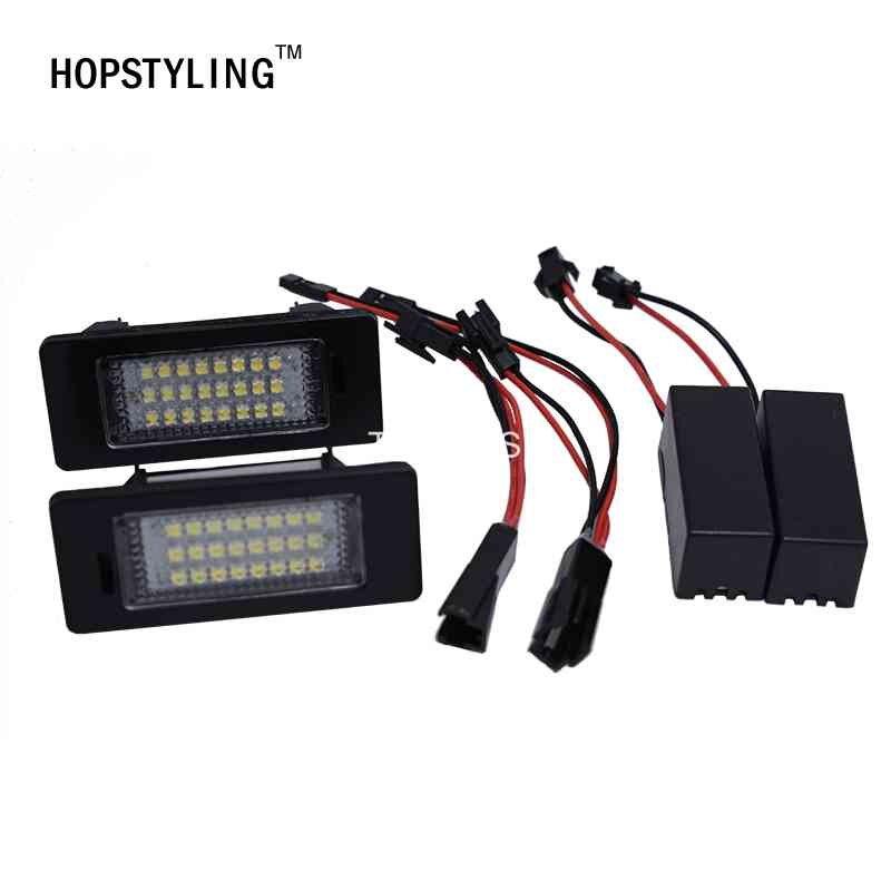 ̿̿̿(•̪ )2 unids A1 A6 A7 coche LED Marcos de matrícula luces 12 V ...