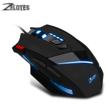 ZELOTES T60 Wired Gaming Mouse 7 Button LED Optical USB Computer Mouse 3200DPI Gamer Mice Silent Mause For PC Laptop Notebook цена