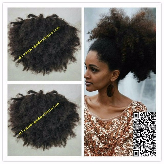 160g Big Afro Kinky Curly Hair 4c Ponytail Clip In Afro