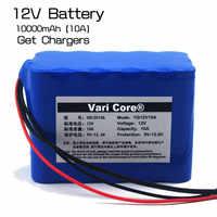 Carte de protection de batterie au lithium de grande capacité 12 V 10Ah 18650 capacité 12.6 v 10000 mah + chargeur de batterie 12 v 3A