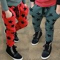 Mickey pantalones de niño de invierno gruesa caliente niños pantalones niños pantalones de Chándal de deporte para 2-8years bebé ropa para 2-7años