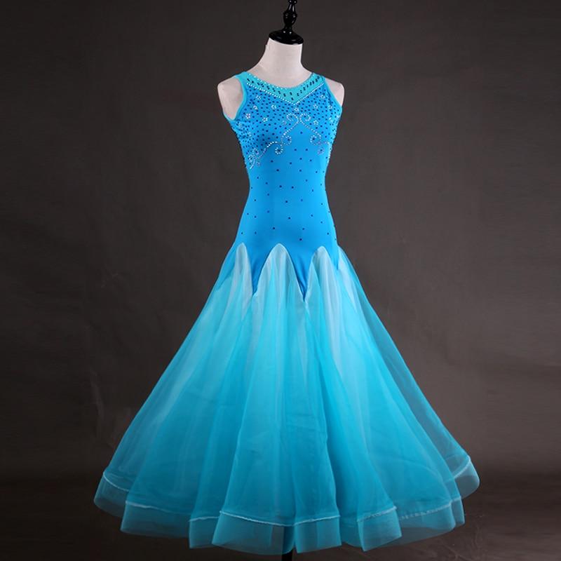 Custom Made Ballroom Standard Dance Dress Womens/Female Tango Waltz Foxtrot Dresses Professional Ballroom Dancing Clothes DL2047