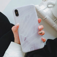 Abstract Graffiti marble case For iphone XS MaxX XR glossy soft silicon for 6 6s 7 8 plus cover