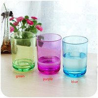 Thick Crystal Clear Brush Cup Rinsing Mug Couple Simple Plastic Drinking Cups