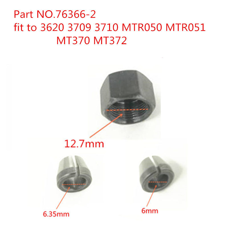 COLLET CONE NUT 763608-8 Replace For Makita  3709 3710 MT370 MT372 3701 3708FC 3708F 3707FC 3706 3707F 3705 3703 3700B Router