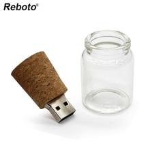 Горячая стеклянная бутылка USB флэш-накопитель 64 ГБ флеш-накопитель 32 Гб карта памяти 16 Гб Флешка деревянная вилка флэш-диск подарок 4 ГБ 8 ГБ Бесплатная доставка