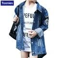 Fashion Girls Denim Coat Children's Cotton Jackets Girls Sequins Jeans Coats 2-14Y 2016 Winter Autumn Kids Outwear Girls Clothes