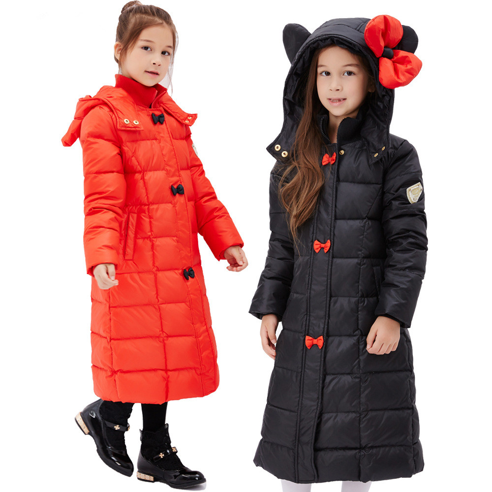 Children Down Jacket 80%Duck Down Girls Winter Parkas Jackets Toddler Windproof Warm Hooded Thick For Kids Outwear Clothes 2-12Y fur hooded girls winter coats and jackets outwear warm long down jacket kids girls clothes children parkas baby girls clothing