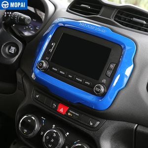 Image 3 - MOPAI Car Center GPS Navigation Decoration Frame Cover Interior Stickers Accessories for Jeep Renegade 2015 2017 Car Styling