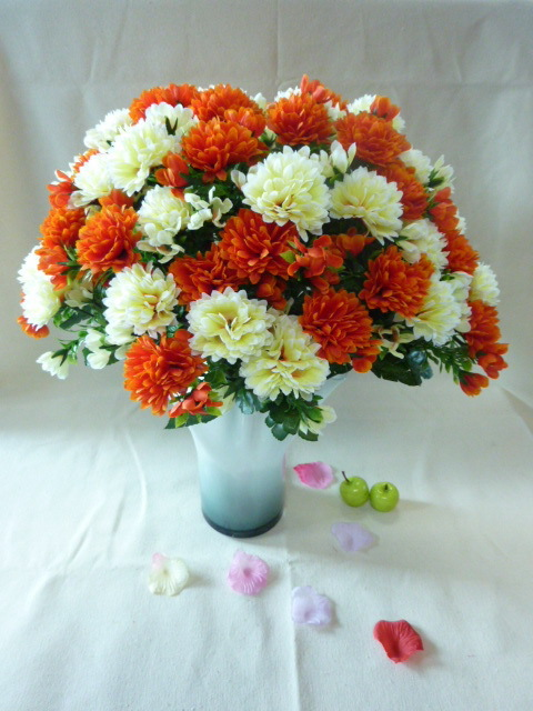 Bouquet of artificialplasticfake flowers chrysanthemumsmums with bouquet of artificialplasticfake flowers chrysanthemumsmums with 72 branches for wedding home decor pretty bouquet in artificial dried flowers from mightylinksfo