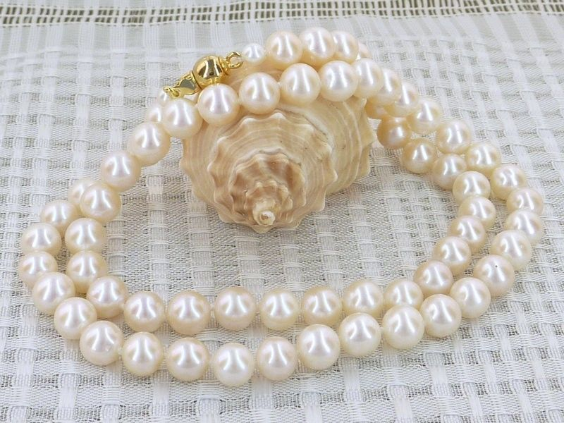 FREE shipping>>> >>>7mm aaa grade white akoya pearl necklace 6.07 цена и фото