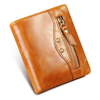Ruil Ameikaji Quality Retro Fashion Oil Wax Genuine Leather Women Mini Purse Handmade Wallet Coin Pocket