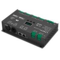 Новый 12 канальный LED dmx контроллер декодер; DC12 24V вход; 4A * 12CH 48A выход rgb/RGBW контроллер серии подключения
