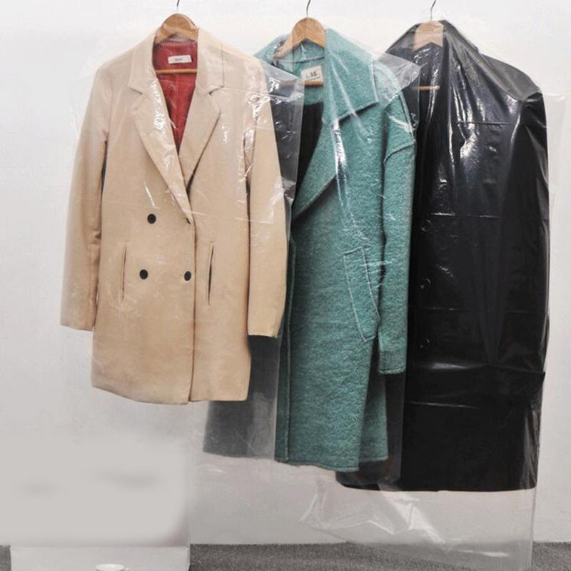 20pcs/Lot Plastic Transparent Dust Cover Garment Of Clothes Hanging Pocket Storage Bag Wardrobe ...