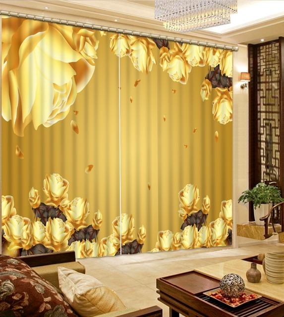 Fashion 3d home decor beautiful yellow flower custom curtain fashion fashion 3d home decor beautiful yellow flower custom curtain fashion decor home decoration for bedroom living mightylinksfo