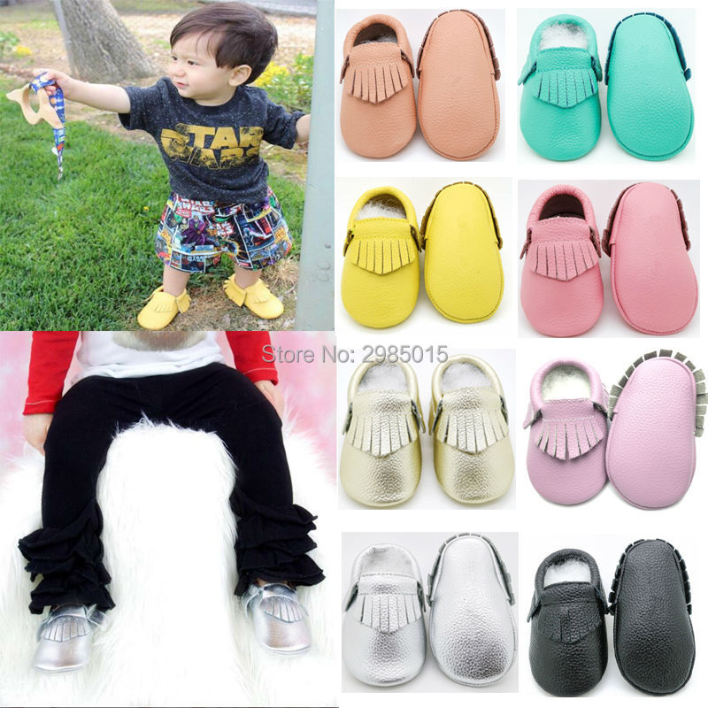 Genuine Leather Girls Shoes First Walkers Soft Bottom Toddler Baby Moccasins Handmade Newborn Shoes Infant Baby boy Shoes