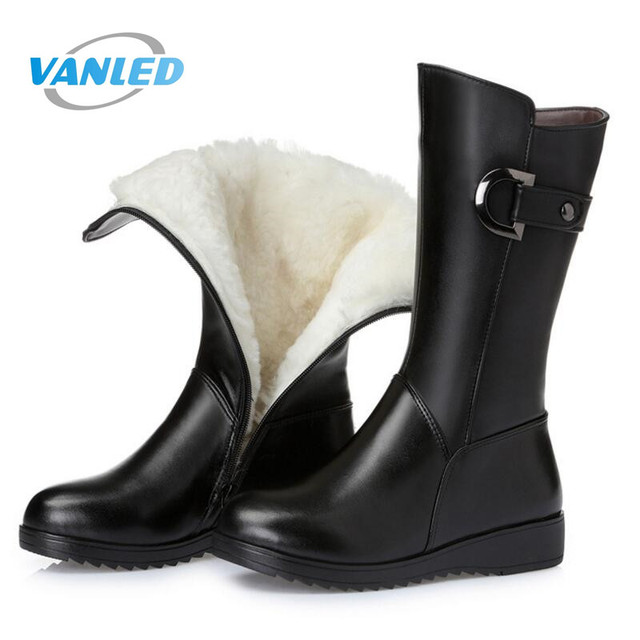 buy cheap real Most Popular 2017 New Fashion Women Shoes Winter Genuine Leather Boots with High Heels Inside Wool In-tube Snow Boots Women Boots clearance store for sale sale the cheapest discount outlet outlet get to buy NPTT58X