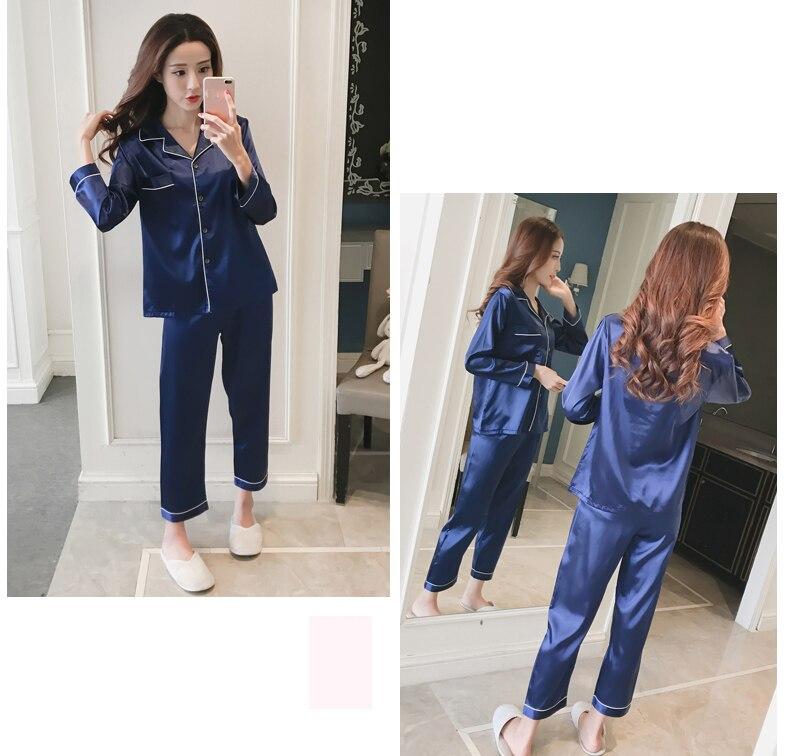 Silk Satin Pyjamas Set 17