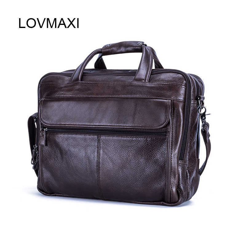 b889d3bff55c LOVMAXI 100% Genuine Leather Men s Briefcases for Male Business Handbags  Causal Laptop Bags Messenger Bags