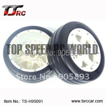 5B Front Slicks Wheels Set With Nylon Super Star Wheel(TS-H95091)x 2pcs for 1/5 Baja 5B, wholesale and retail 5b front sand wheel set ts h85046 2 x 2pcs for 1 5 baja 5b ss wholesale and retail