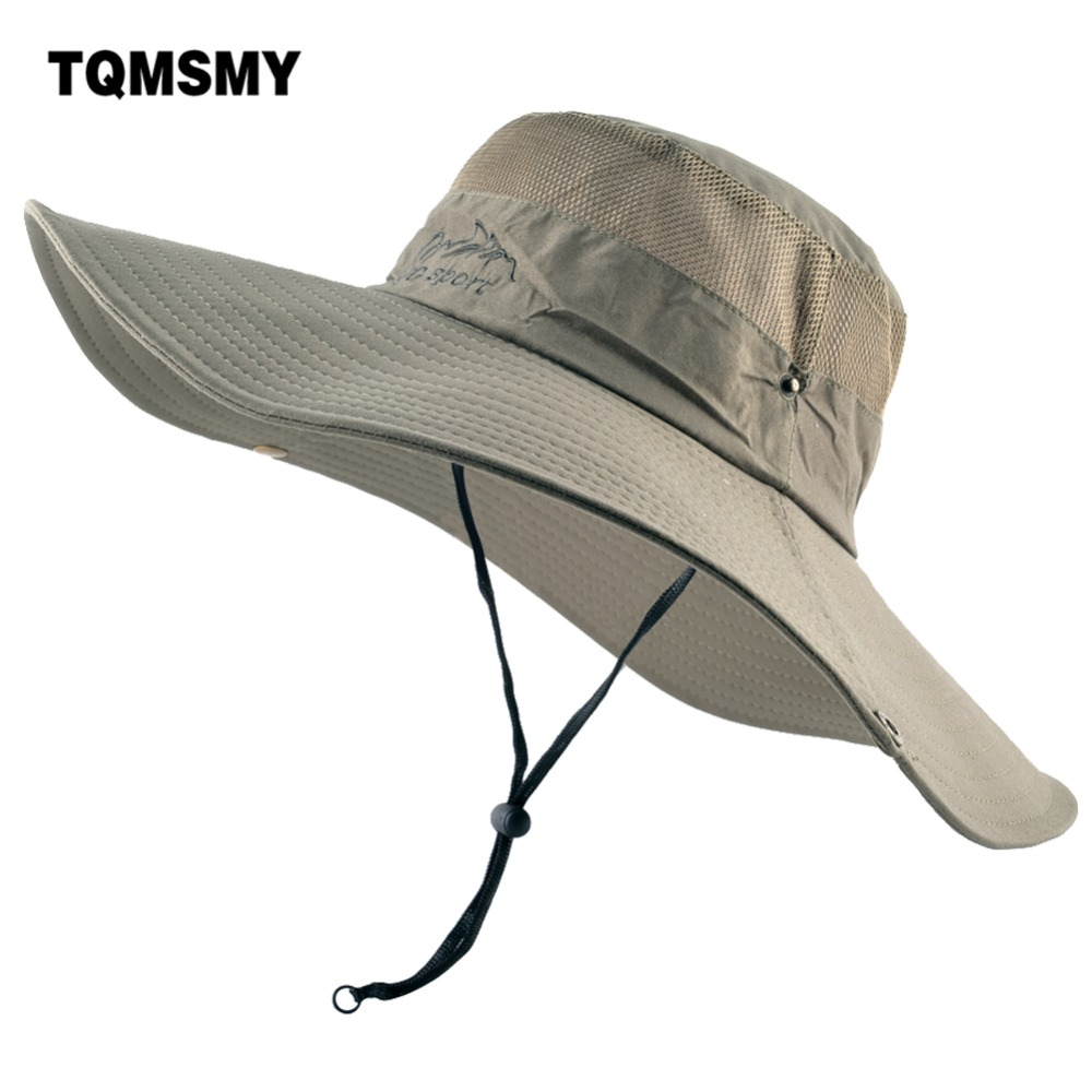 SOMBRERO Men/'s Cotton Embroidery Bucket Hat Fishing Hat Climbing Mesh Breathable