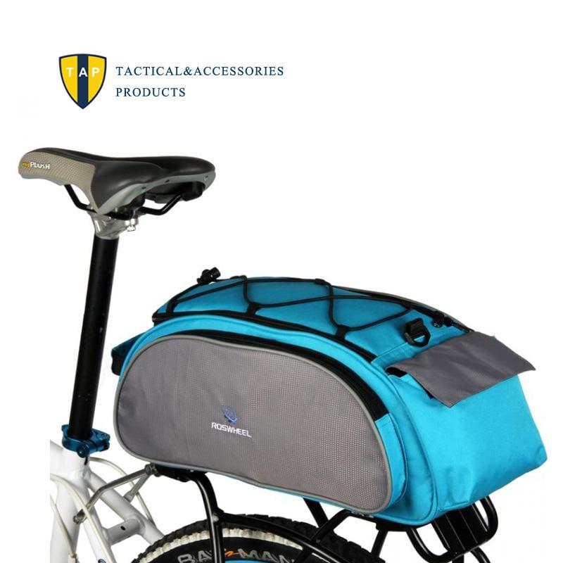 Roswheel Bicycle Back Seat Bag Zadní Pack Mountain Road MTB Bike Cyklistické tašky Rack kufr Nositel Rameno Kabelka Messenger 10L