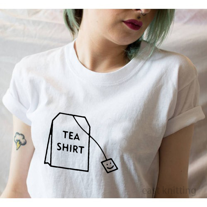 Fashion Harajuku T Shirt Women Summer Round Neck Tops Funny Tea Shirt Female Clothing