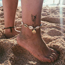 Fashion Silver Gold Shell Anklet Women Natural Beach Barefoot Bracelet Ankle on leg Strap Boho Foot Jewelry