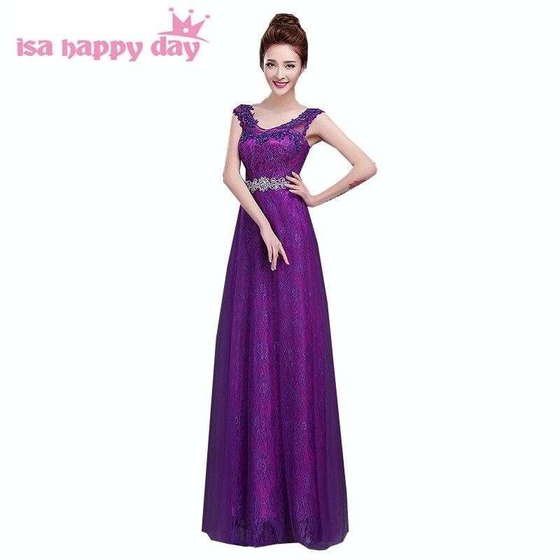 Robe de Soiree formal largo berenjena púrpura vestido de noche de ...