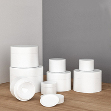 2pcs 3g/5g/10g/15g/30g/50g/80g Grinded white bottle Cream box Paste emulsion Sub-bottle wholesale BQ207