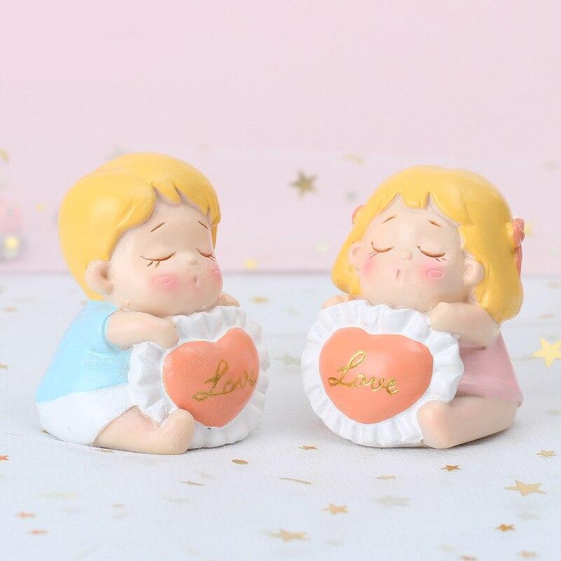 Creative Cartoon Couples Miniatures DIY Ornament Decoration Crafts Figurines Micro Landscape Garden Supplies Gifts