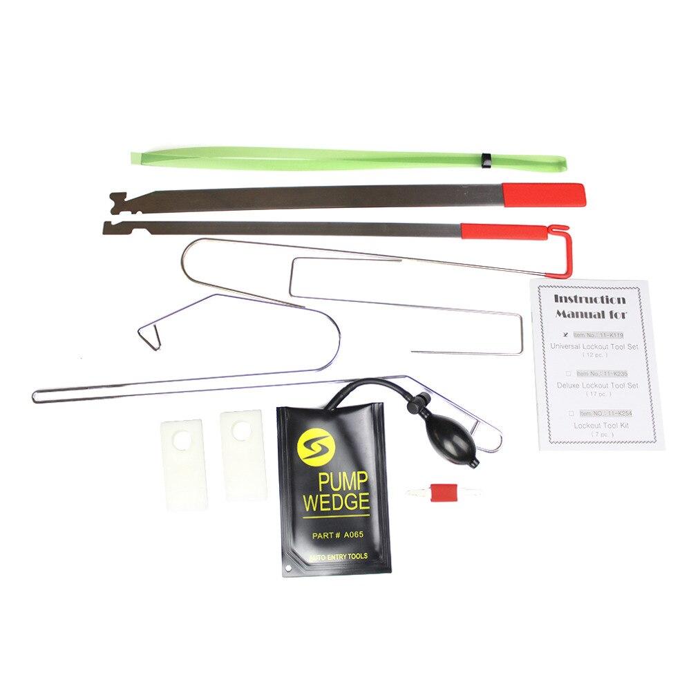 Prix pour Nouveau 10 pcs Universel De Voiture Verrouillage Tool Kit Déverrouiller la Porte de Voiture Ouverte Outil Kit livraison gratuite vente chaude