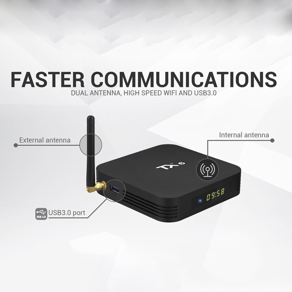Lastest TX6 2G+16G/4GB+32GB For Android 9.0 TV Box Allwinner H6 Quad Core USD3.0 Dual Wifi BT4.2 4K Google  Youtube Smart Box