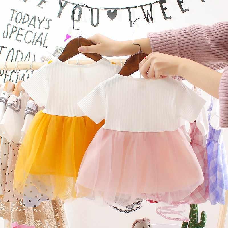 Платье для новорожденных платье для маленьких девочек летние детские вечерние костюмы для дня рождения для детей от 0 до 3 лет