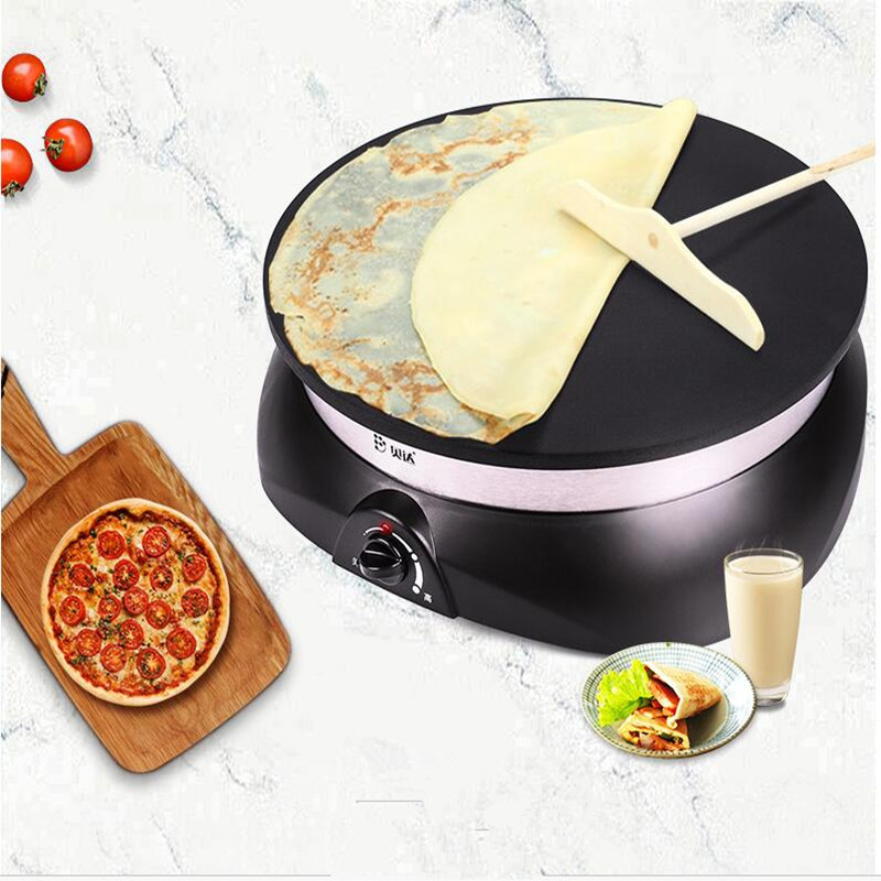 220V Non-stick Crepe Maker Pancake Maker Machine Electric Frying Pan Spring Roll Machine jiqi stainless steel electric crepe maker plate grill crepe grill machine