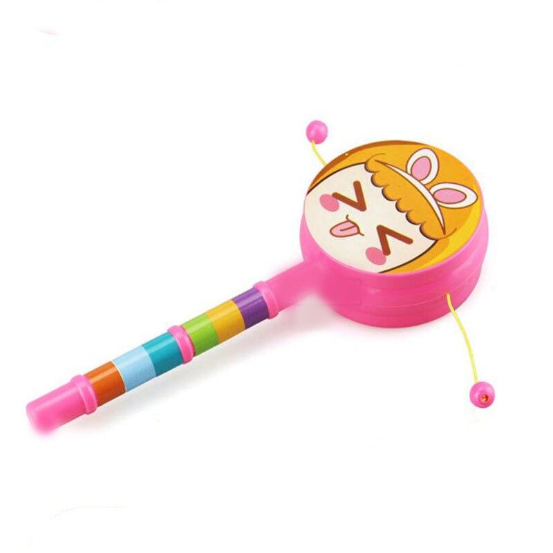1 Pc Kunststoff Bunte Hand Schütteln Rattle Trommel Frühen Pädagogisches Spielzeug Für Kinder Baby Noise Maker Spielzeug Musical Instrument Geschenke