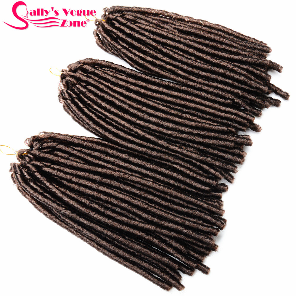 24 Roots Faux LocsCrochet Hair 18 Crochet Faux Lock Dreadlock Crochet Braids hair Extensions Synthetic Braiding hair Soft lock (144)_