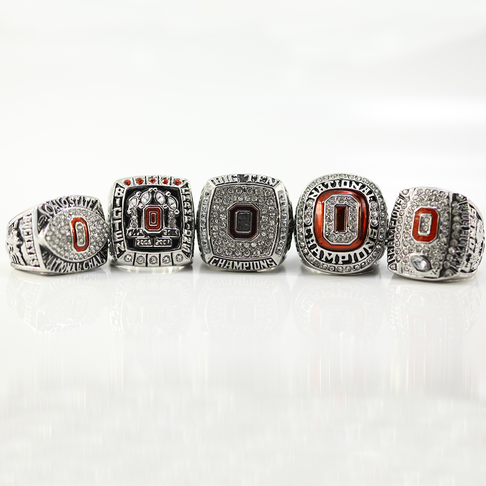 2002/2008/2009/2014/2014 Ohio State Buckeyes Big Ten Football Replica Championship Ring Size 11