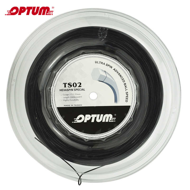 OPTUM HEXRASPIN SPECIAL 1.25mm Hexagonal Tennis String Top-Spin Polyester Racket String Twist Durable Gym String  200m/reel