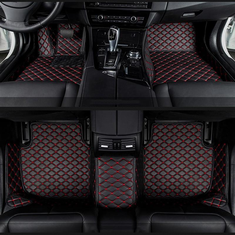 Voiture tapis de sol pour Cadillac SLS ATSL CTS XTS SRX CT6 ATS Escalade accessoires auto voiture style tapis auto Sur Mesure noir/rouge/Gris