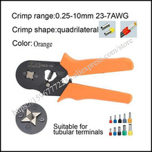HSC8 10S hand tool  mini self-adjustable crimping plier 23-7AWG crimping capacity 0.25-10mm2 special pliers with casing type 0 25 10mm2 23 7awg insulated